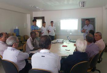 Apresentação do App Witsu na reunião do conselho administrativo e fiscal da Ceteb | Foto: Assessoria de comunicação Ceteb